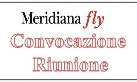Meridiana: Convocazione Tavolo Negoziale