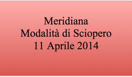 Meridiana: modalità sciopero 11 Aprile