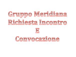 Gruppo Meridiana: Richiesta Incontro e Convocazione
