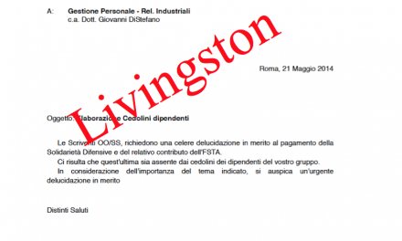 Livingston: Stipendi richiesta incontro