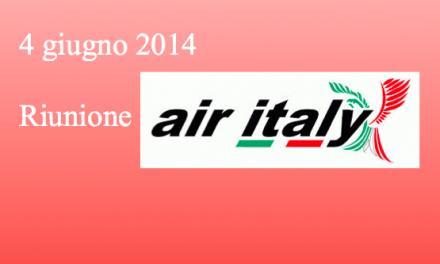 Air Italy: riunione 04 giugno 2014