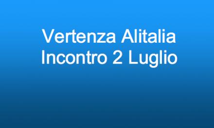 Alitalia: incontro 02 Luglio