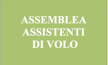 ASSEMBLEA ASSISTENTI DI VOLO