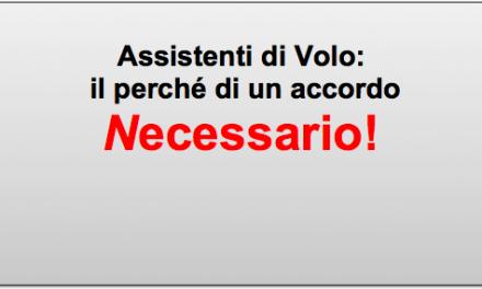 Assistenti di Volo: il perché di un accordo necessario