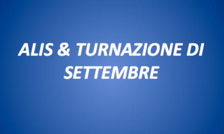 ALIS-TURNAZIONE SETTEMBRE