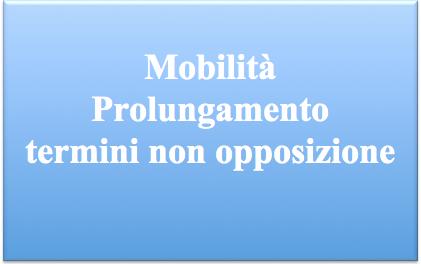 Mobilità – verbale prolungamento termini –