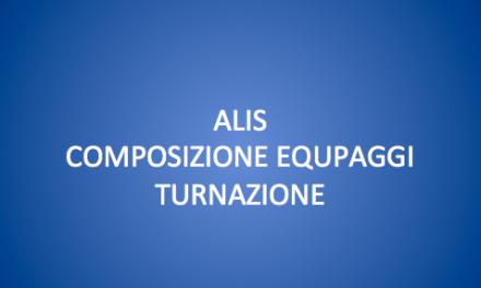 CONVOCAZIONE 22 SETTEMBRE-ALIS/COMPOSIZIONE EQUIPAGGI/TURNAZIONE.