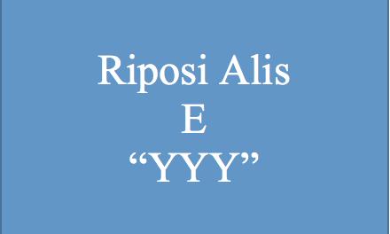 Richiesta incontro – riposi Alis e YYY