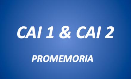 CAI 1 & CAI 2-PROMEMORIA
