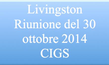 Livingston – Accordo CIGS –