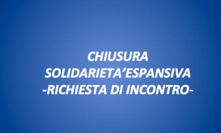 CHIUSURA SOLIDARIETA' ESPANSIVA