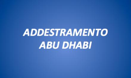 ADDESTRAMENTO ABU DHABI