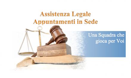 Servizio Legale – Avvocato presente in Federazione a disposizione dei Lavoratori