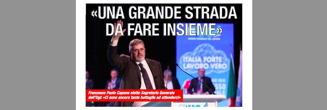 UGL – Francesco Paolo Capone eletto Segretario Generale