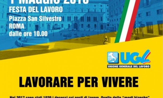 1° Maggio – Festa dei lavoratori –  #lavorarepervivere