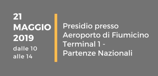 Sciopero Generale Trasporto Aereo – 21 maggio 2019 – Presidio Fco